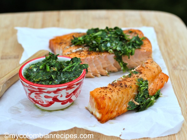 Salmon with Chimichurri Sauce Recipe
