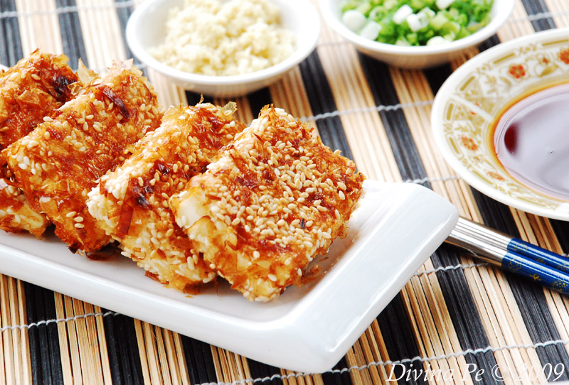 tofu-crusted-sesame-seeds