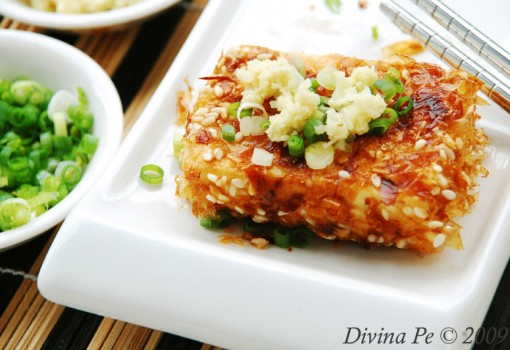 Sesame and Bonito Flakes Crusted Tofu