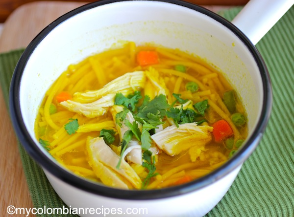 Colombian Chicken and Pasta Soup