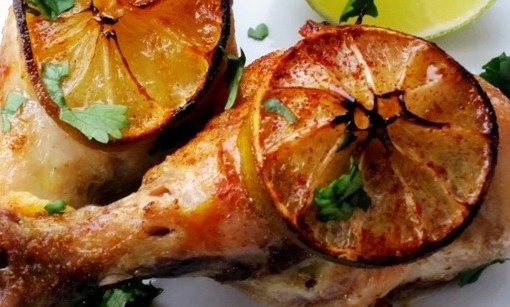 "<span class=""p-name"">Roasted Chicken Legs with Lime</span>"