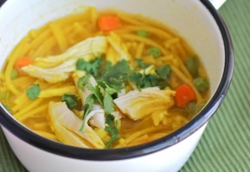 Receta de Sopa con Pollo y Pasta