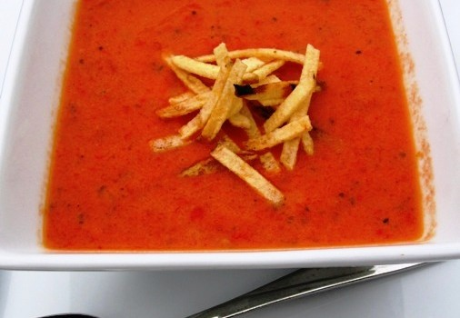 "<span class=""p-name"">Tomato and Roasted Pepper Soup (Sopa de Tomate y Pimentón)</span>"