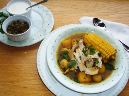 Colombian Chicken and Potato Soup (Ajiaco Bogotano)