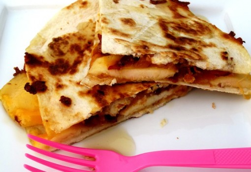 "<span class=""p-name"">Bacon-Apple and Cheddar Quesadilla</span>"