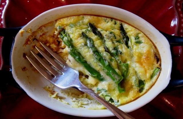 Aspa-Onion omelet