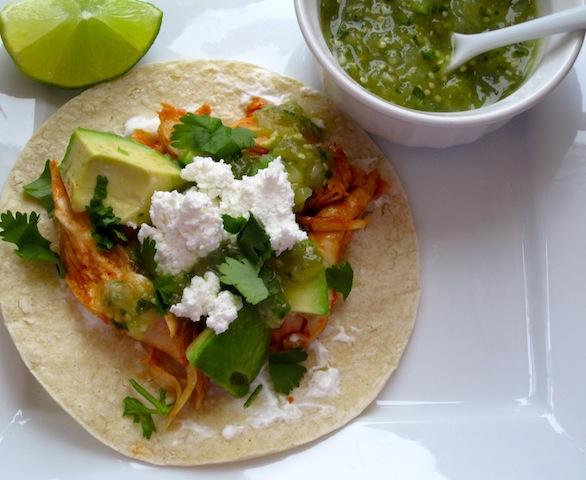 Chicken tacos tacos de pollo my colombian recipes - Tacos mexicanos de pollo ...