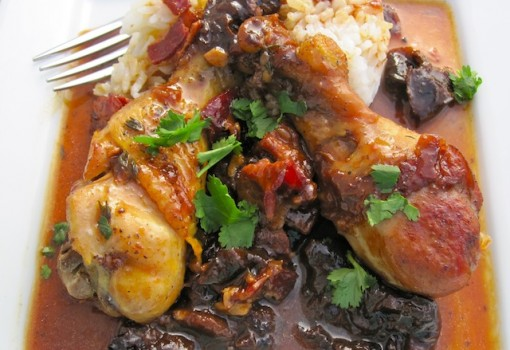 "<span class=""p-name"">Chicken with Prunes and Bacon</span>"