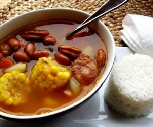 Quick Pinto Bean Soup with Chorizo