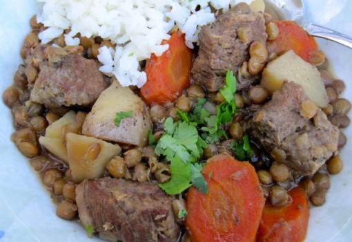 "<span class=""p-name"">Lentils and Beef Stew ( Estofado de Lentejas con carne)</span>"