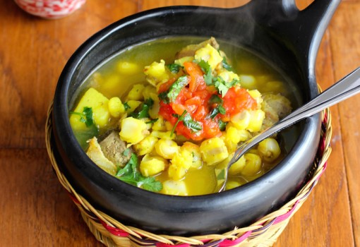 "<span class=""p-name"">Colombian Yellow Hominy Soup (Sopa de Mute)</span>"