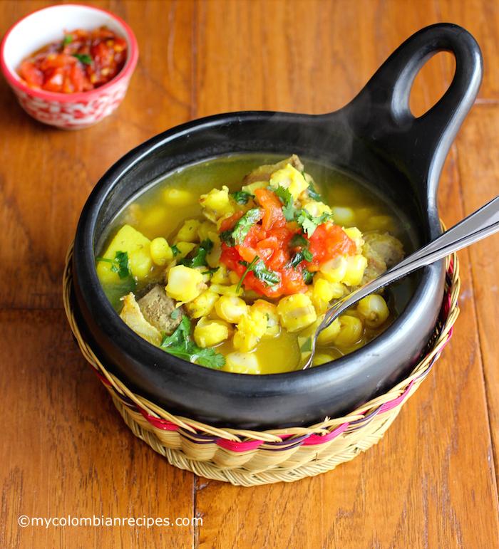 Sopa de Mute (Hominy and Pork Soup) |mycolombianrecipes.com