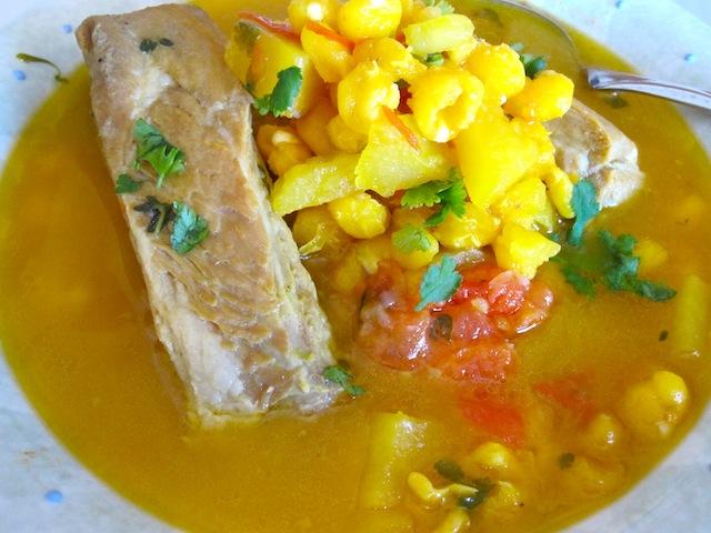 Sopa de maiz amarillo