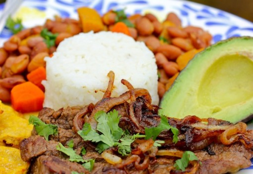 "<span class=""p-name"">Bistec Encebollado (Colombian-Steak with Onion Sauce)</span>"