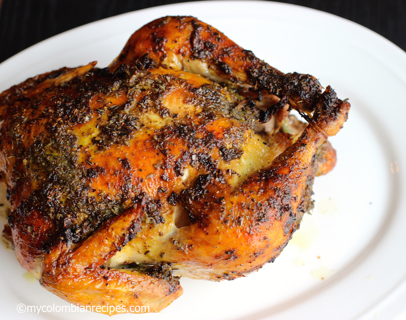 Pollo Asado Colombiano (Colombian Roasted Chicken) |mycolombianrecipes.com