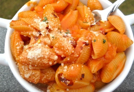 "<span class=""p-name"">Pasta with Creamy Roasted Pepper and Tomato Sauce</span>"