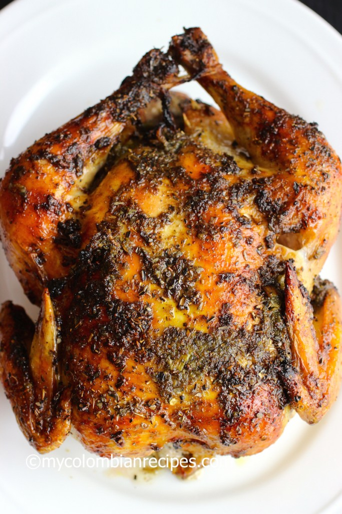 Pollo Asado (Roasted Chicken) |mycolombianrecipes.com
