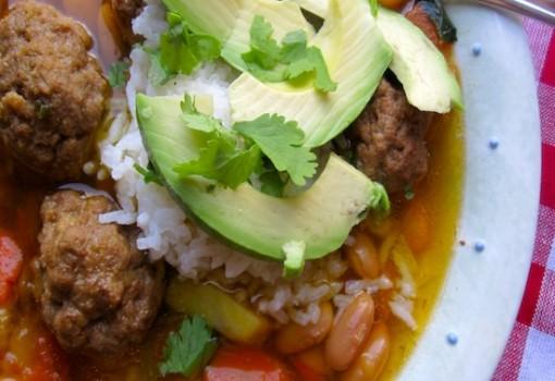 "<span class=""p-name"">Canary Bean Stew with Meatballs ( Frijoles Canarios con Albondigas)</span>"