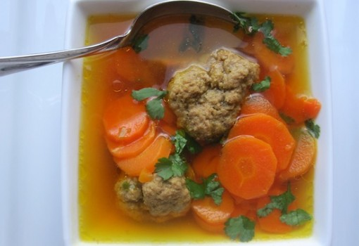 Carrots And Meatball Soup