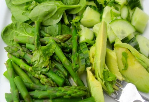 Fresh Green Salad with Lime-Lemon dressing