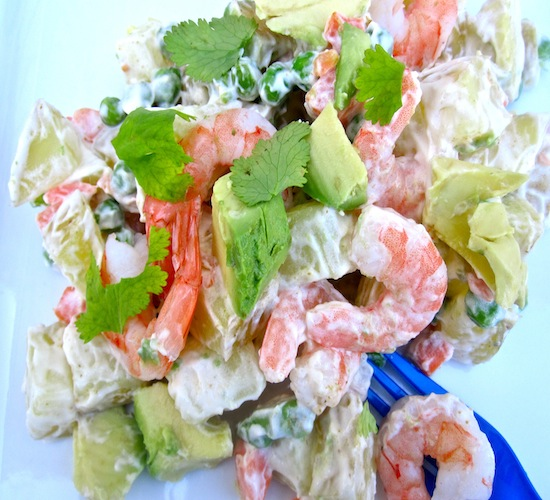 Potato, Avocado and Shrimp Salad | My Colombian Recipes