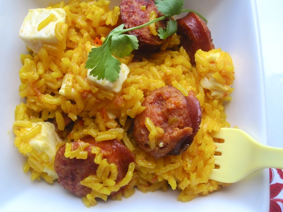 Arroz Clavado Rice With Smoked Sausage And White Cheese My Colombian Recipes