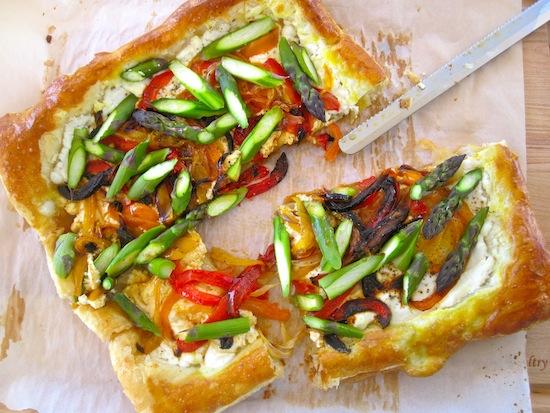 Asparagus and Vegetables tart