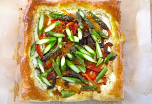 "<span class=""p-name"">Roasted Vegetables, Asparagus and Queso Fresco Tart</span>"