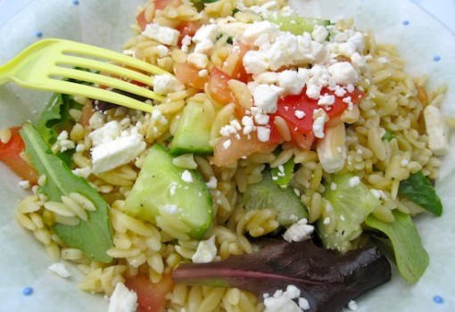 "<span class=""p-name"">Simple Orzo and Feta Salad</span>"