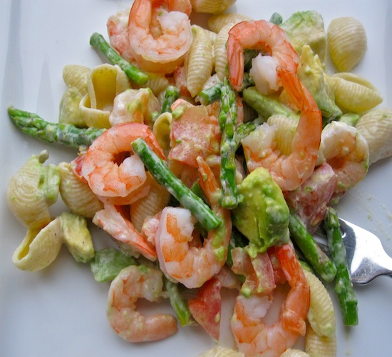 Pasta, Shrimp and Asparagus Salad