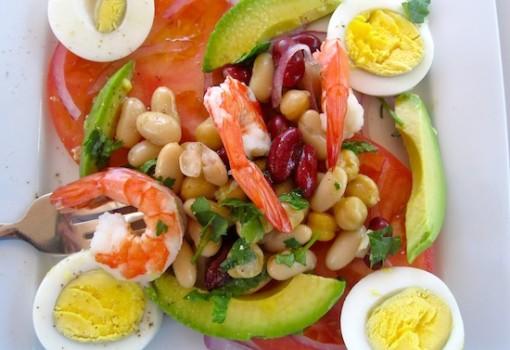 Avocado,Shrimp Tomato Salad