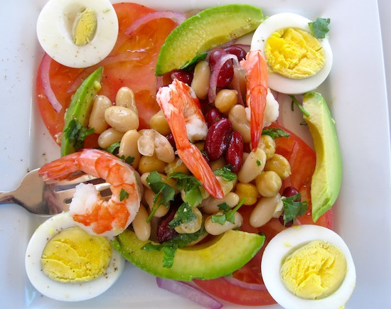 Avocado,Shrimp Tomato Salad