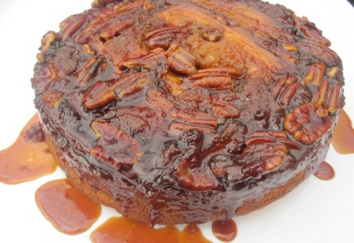 "<span class=""p-name"">Banana-Pecan and Dulce de Leche Upside Down Cake</span>"