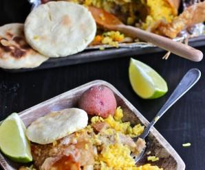 Lechona Tolimense-Colombiana (Colombian Style Stuffed Pork)|mycolombianrecipes.com