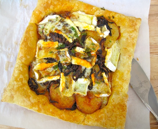 Mushrooms and Brie cheese Tart