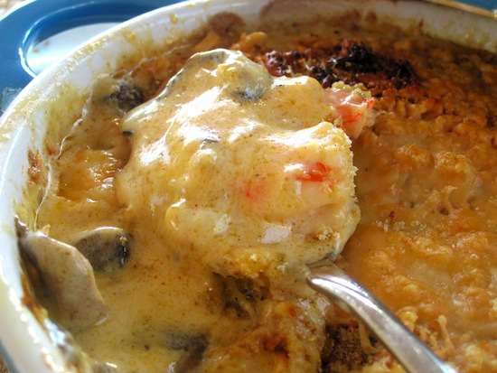 Shrimp and Mushrooms Casserole