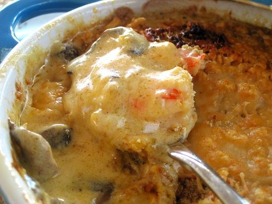 Shrimp and Mushrooms Casserole