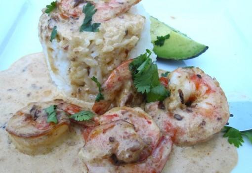 """<span class=""""p-name"""">Camarones Con Salsa de Anis (Shrimp with Anise Sauce)</span>"""