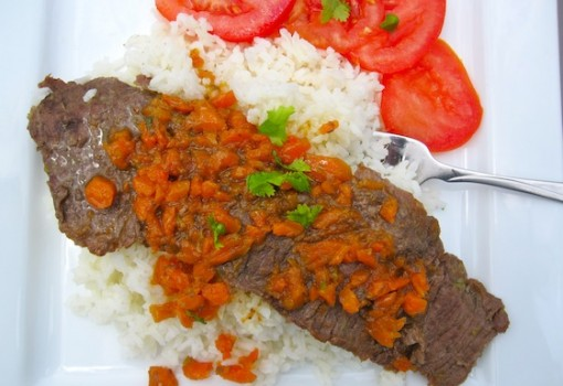 "<span class=""p-name"">Carne Guisada con Zanahoria ( Steak with Carrot Sauce)</span>"