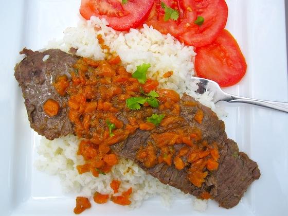 Carne con Salsa de Zanahoria