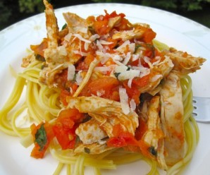 Colombian Style Pasta with Chicken