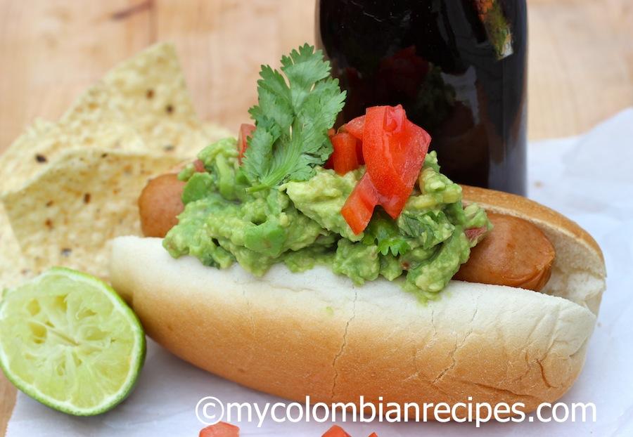 Guacamole Hot Dog My colombian Recipes
