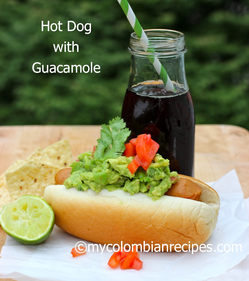 Hot Dog with Guacamole