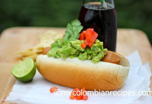 """<span class=""""p-name"""">Hot Dogs with Guacamole(Perro Caliente con Guacamole)</span>"""