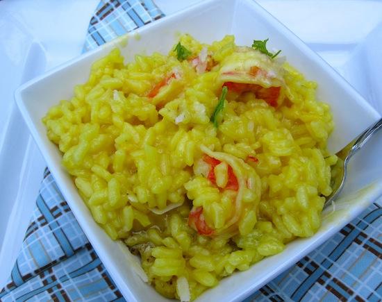 Shrimp and safron Rissoto