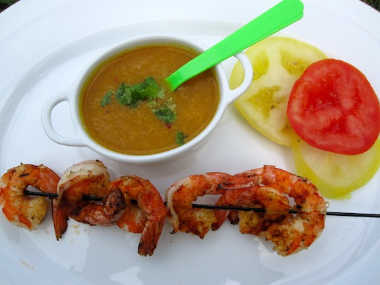 Shrimp with Mango Sauce