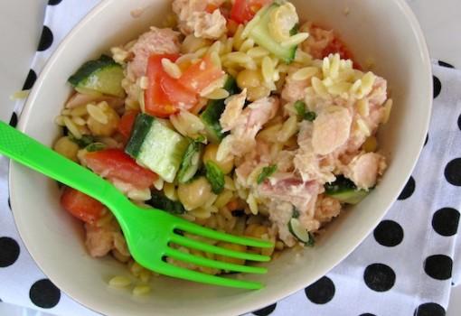 Tuna, Chick Peas and Orzo Salad