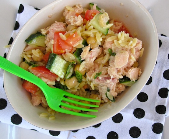 Tuna, Chickpeas and Orzo Salad