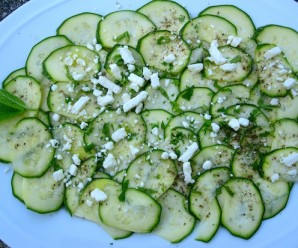 Zuchinni Carpaccio