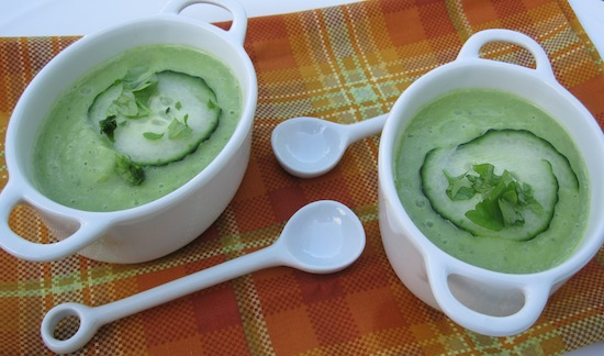 Avocado-Cucumber Gazpacho